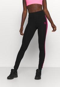 Pink Soda - TANISHA TAPE LEGGING - Leggings - black - 0