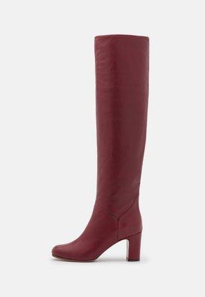 BOOT NO ZIP - Kozačky nad kolena - dark red