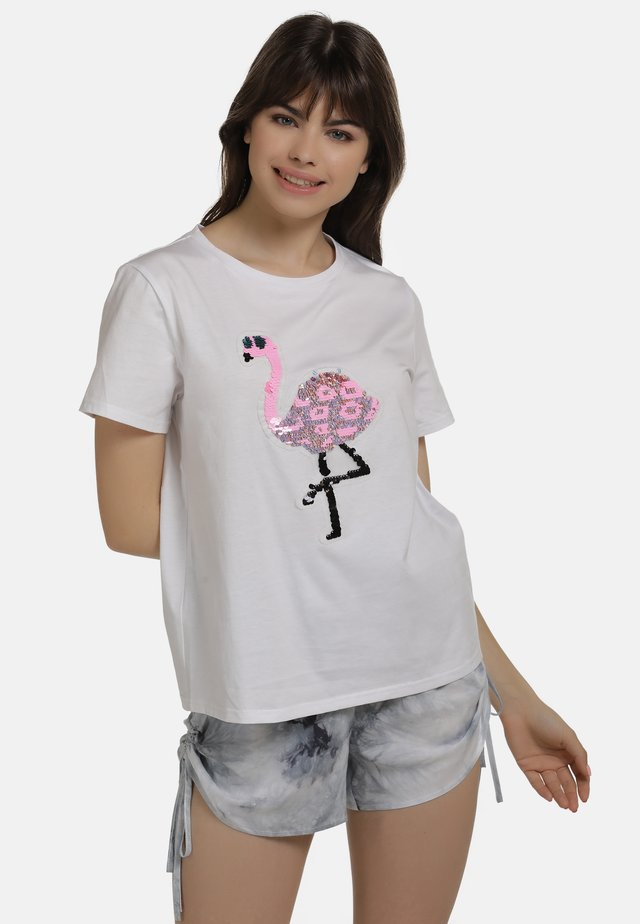 Camiseta estampada - weiss