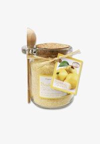 Florex - BADESALZ QUITTE IM GLAS MIT HOLZLÖFFEL 300 G - Bubble bath & soak - beige - 0