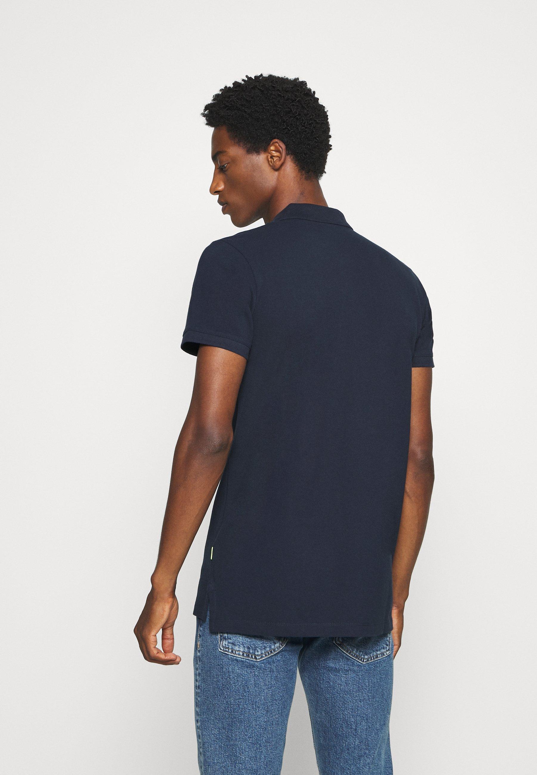 TOM TAILOR DENIM WITH SMALL EMBROIDERY - Polo shirt - sky captain blue 7V102