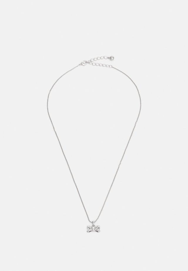SABENA SPARKLE BOW TINY PENDANT - Collana - silver-coloured/crystal