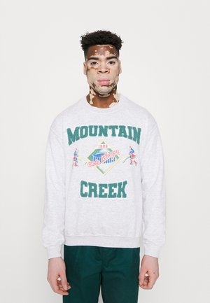 WITH MOUNTAIN CREEK CHENILE PATCHES AND VINTAGE ICE HOCK UNISEX - Sportinis megztinis - ash grey