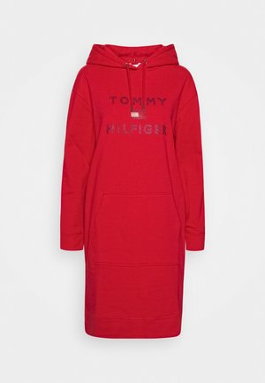 TIARA HOODED DRESS - Sukienka letnia - primary red