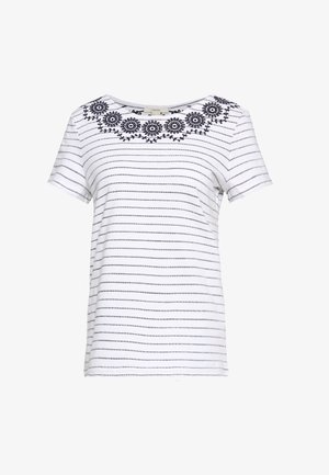EMBRO TEE - T-shirt z nadrukiem - navy