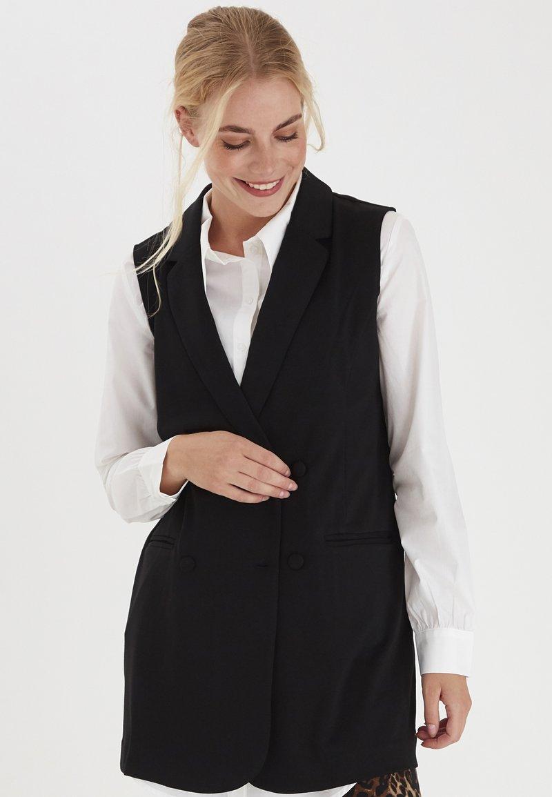 Fransa - Waistcoat - black