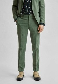 Selected Homme - Trousers - dark green - 0