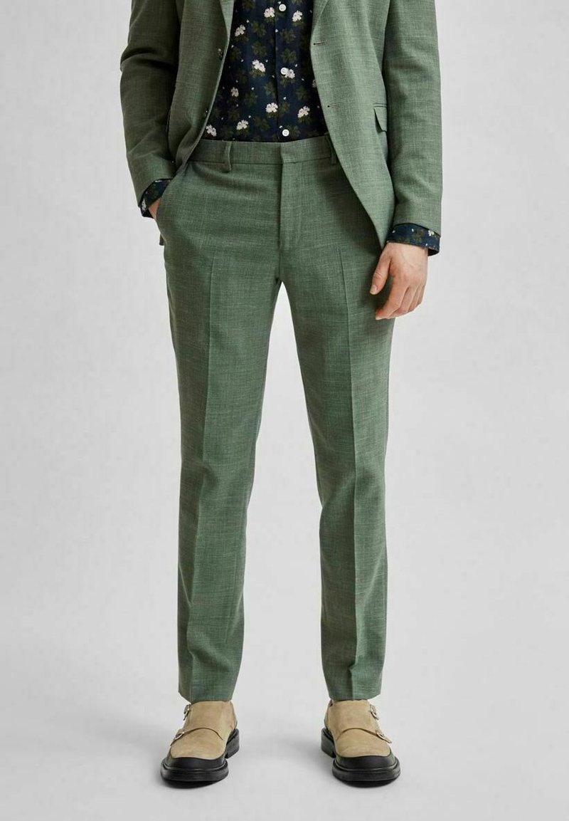 Selected Homme - Trousers - dark green