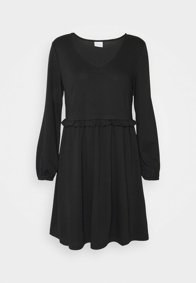 VITINNY V NECK DOLL DETAIL DRESS - Robe en jersey - black