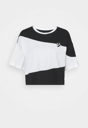 RIVALRY TEE - Print T-shirt - black/white