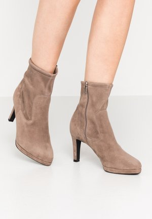 PAKUNA - High heeled ankle boots - sand