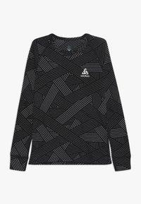 ODLO - CREW NECK WARM TREND KIDS - Top sdlouhým rukávem - black/grey melange - 0
