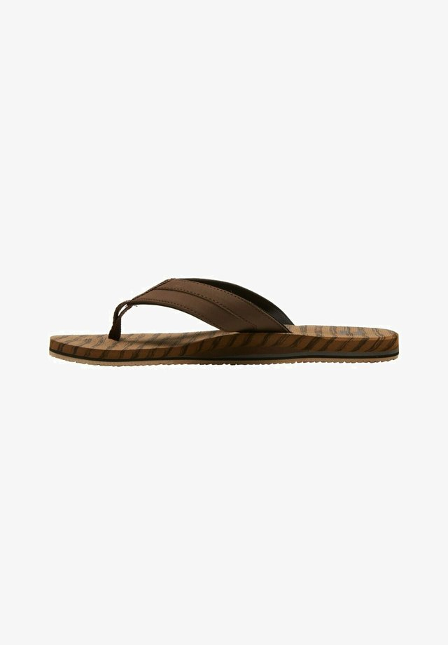 ALL DAY IMPACT  - T-bar sandals - camel
