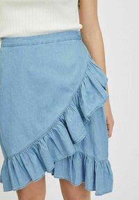 Vila - A-snit nederdel/ A-formede nederdele - light blue denim - 3