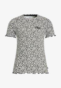 WE Fashion - MET PANTERDESSIN - T-shirt z nadrukiem - black - 2
