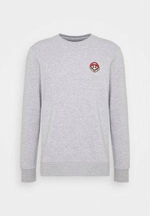 JCOSUPERMARIO CREW NECK - Sweatshirt - light grey melange