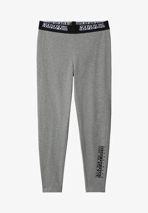 M-BOX LEGGINGS - Leggings - Trousers - medium grey melange