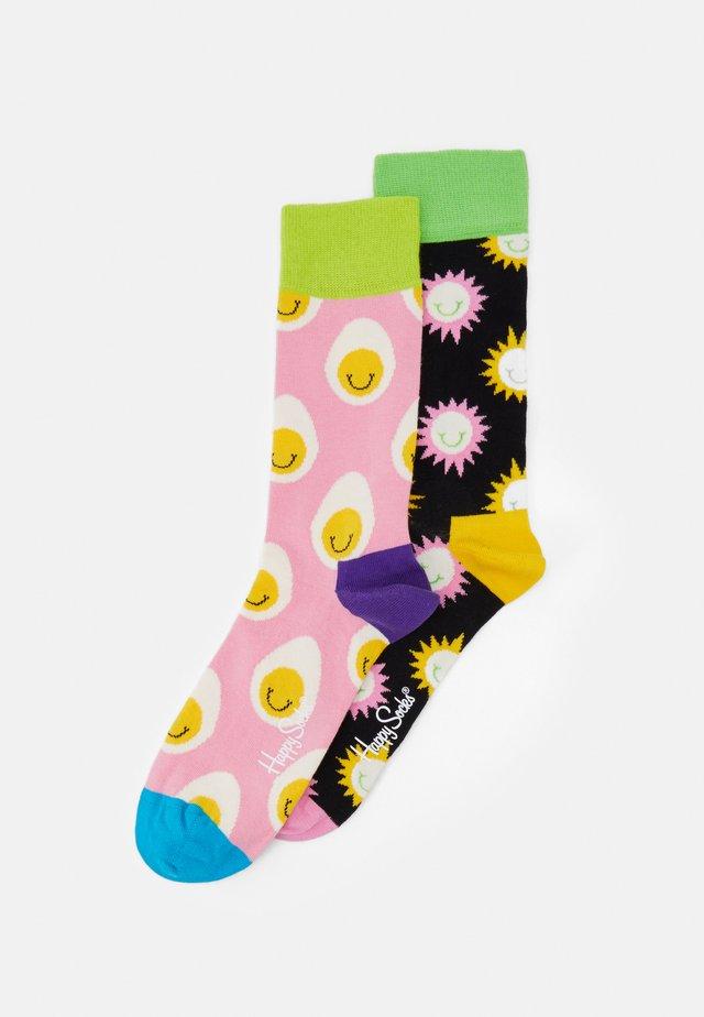 SMILE EGG SUNNY SMILE 2 PACK - Ponožky - multi-coloured