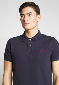 GANT - CONTRAST COLLAR RUGGER - Pikeepaita - evening blue - 3