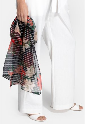 Scarf - pinstriped floral