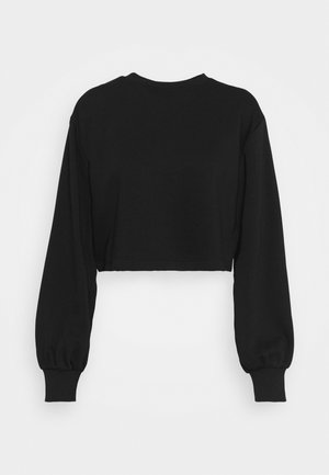 VOLUME SLEEVE CROP - Sweater - black