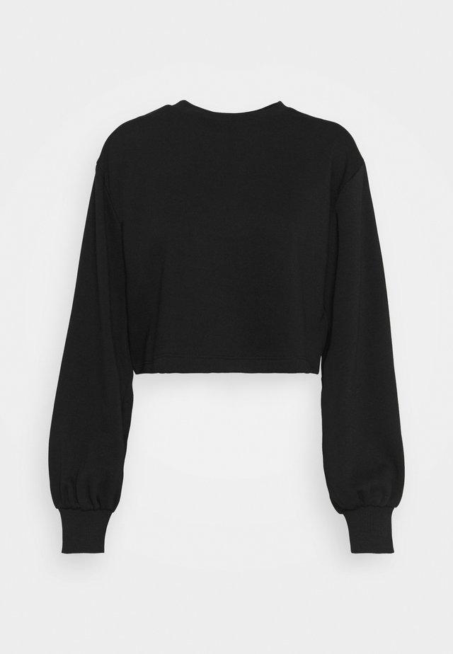 VOLUME SLEEVE CROP - Sweatshirt - black