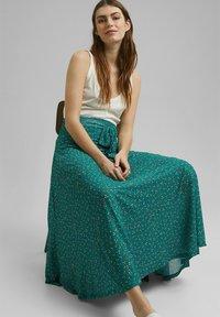 Esprit - Maxi skirt - teal green - 5