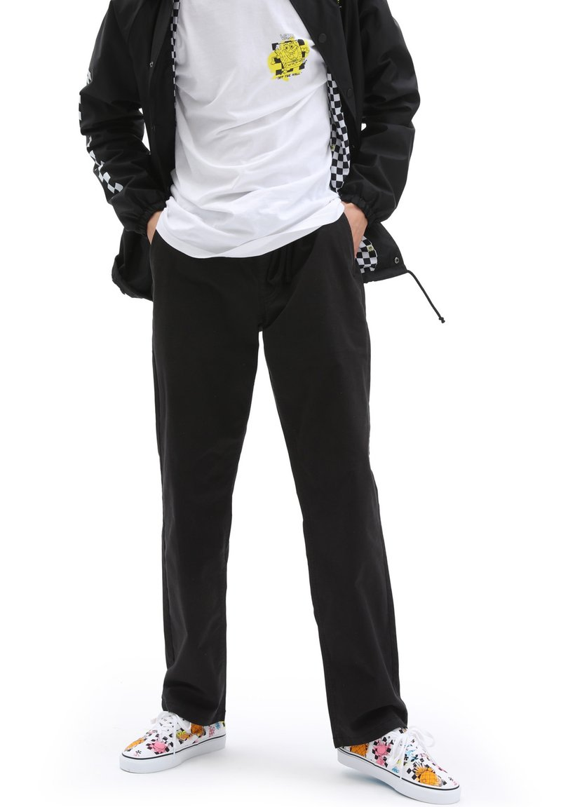 Vans - MN RANGE RELAXED ELASTIC PANT - Trousers - black