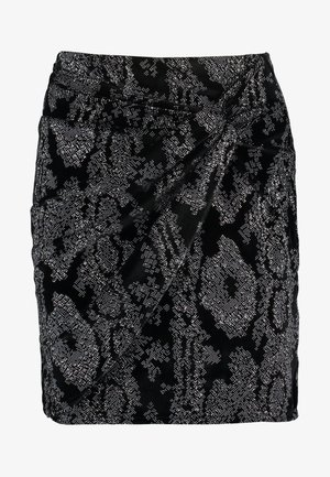 TWIST WRAP LENGTH SKIRT - Jupe crayon - black
