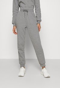 Even&Odd - Off Shoulder Sweat & Jogger Set - Sweatshirt - mottled grey - 2