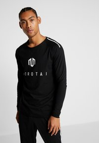MOROTAI - BONDED LONGSLEEVE - Long sleeved top - black - 0