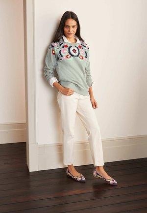 DAS - Sweatshirt - grau meliert/bunt, stickerei