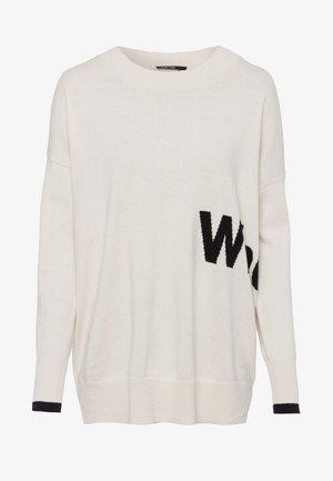 Sweatshirt - cream varied