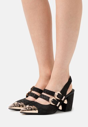 WALTER - Classic heels - black/gold