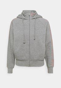 FULL ZIP - Zip-up sweatshirt - mottled grey