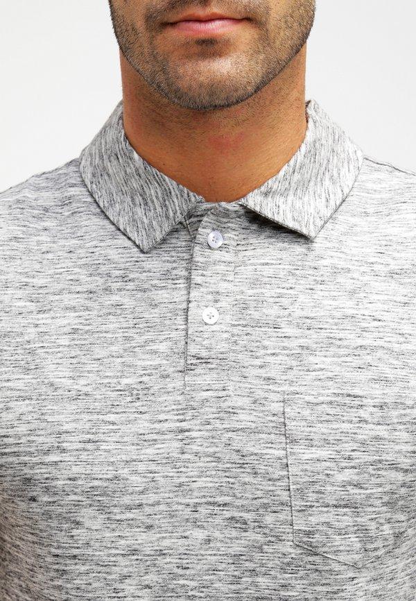 Pier One Koszulka polo - grey melange/szary melanż Odzież Męska TQDK