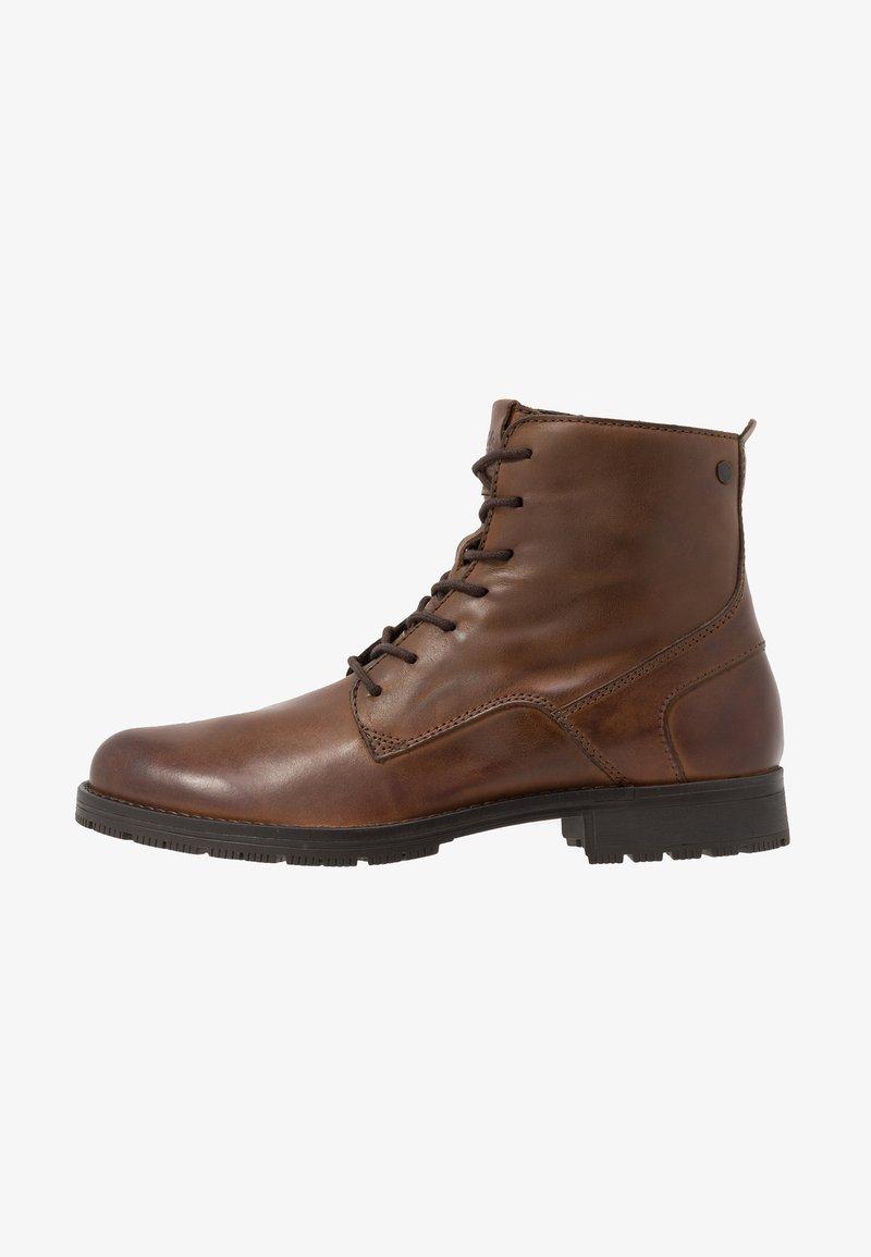 Jack & Jones - JFWORCA  - Lace-up ankle boots - cognac
