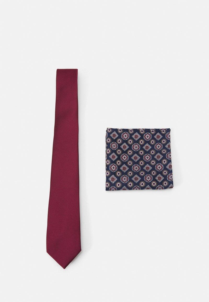 Burton Menswear London - EPP & GEO SET - Tie - burgandy