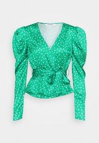 Glamorous - PUFF SLEEVE V NECK WRAP  - Blouse - green - 0