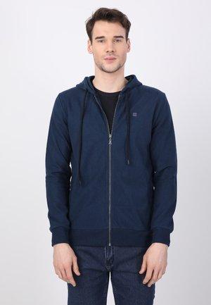 Zip-up sweatshirt - oil/bordeaux