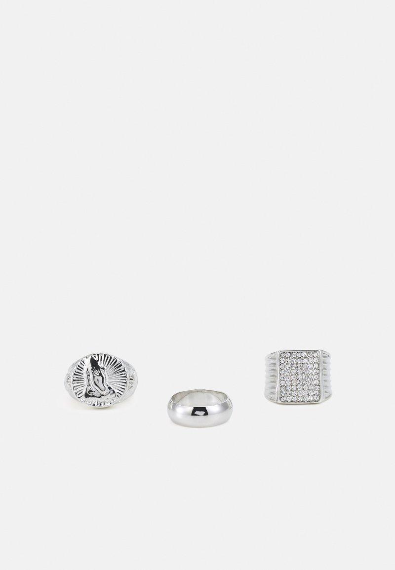 Urban Classics - PRAY HANDS 3 PACK - Sormus - silver-coloured