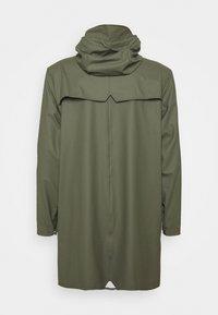 Rains - LONG JACKET UNISEX - Waterproof jacket - olive - 1
