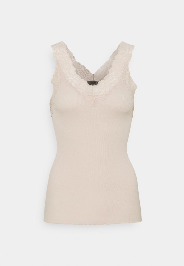 V NECK  - Top - beige