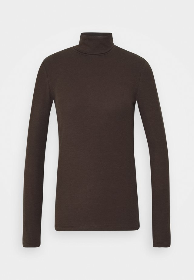 TURTLE NECK LONGSLEEVE - Maglietta a manica lunga - mocca brown