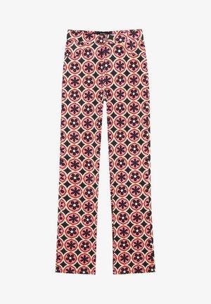 Straight leg jeans - mottled light pink