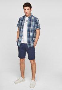 s.Oliver - Shirt - blue/white check - 1