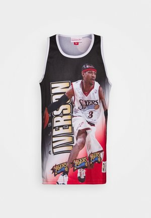 NBA PHILADELPHIA 76ERS ALLEN IVERSON BEHIND THE BACK TANK - Club wear - white