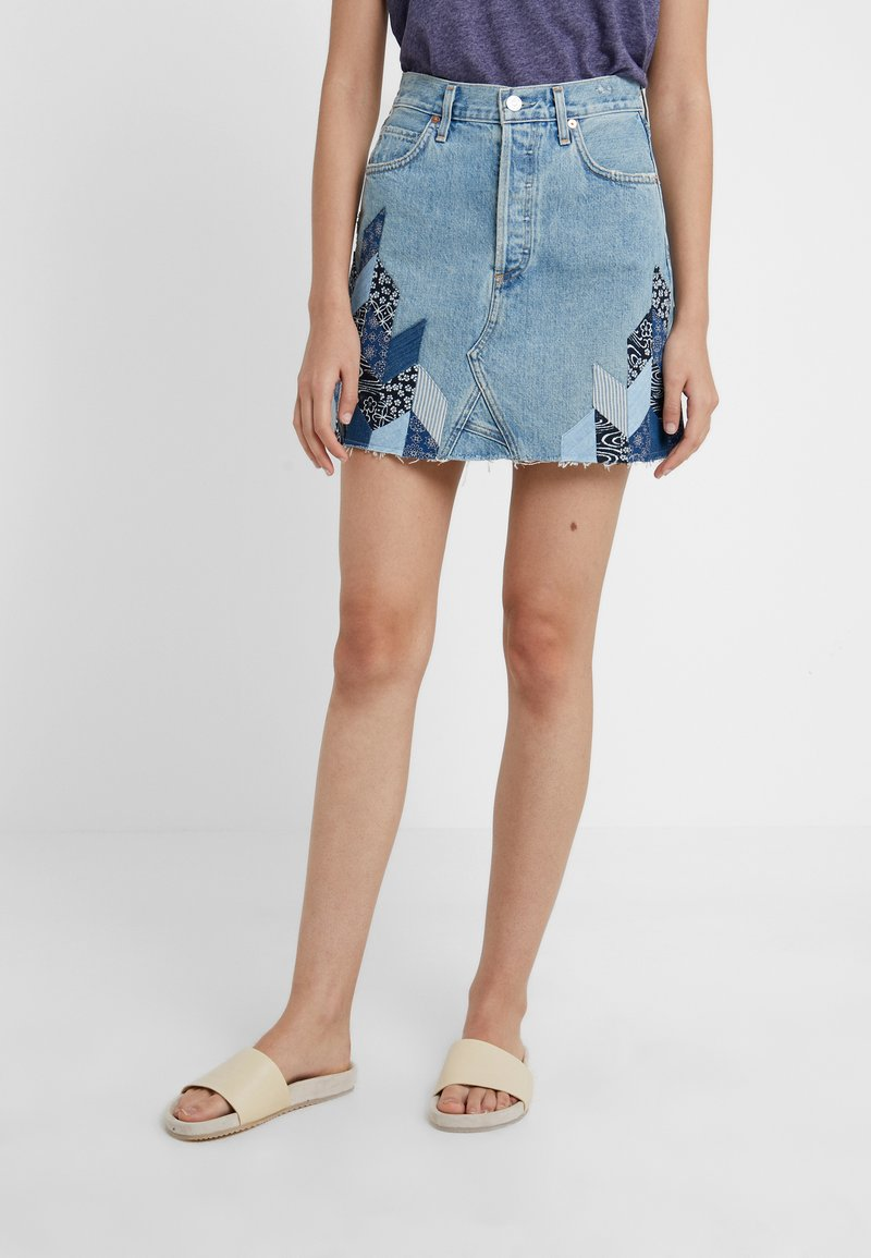 Citizens of Humanity - ASTRID  - Denim skirt - caliqoue patch