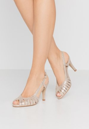 DAUTA - High heeled sandals - platine