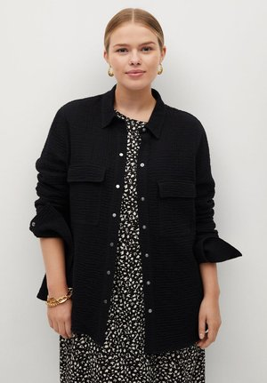 SOBRE - Button-down blouse - schwarz
